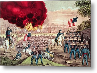The Capture Of Atlanta By The Union Army Metal Print