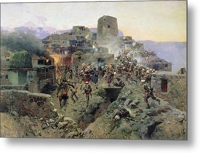 The Capture Of Aul Gimry, 17th October 1832, 1891 Oil On Canvas Metal Print