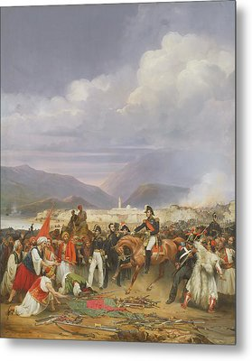 The Capture Of Morea Castle, 30th October 1828, 1836 Oil On Canvas Metal Print by Jean Charles Langlois