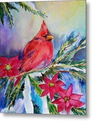 The Cardinal Metal Print by Gloria Johnson