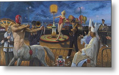 The Cardinals And The Universe Metal Print by Alfredo Arcia