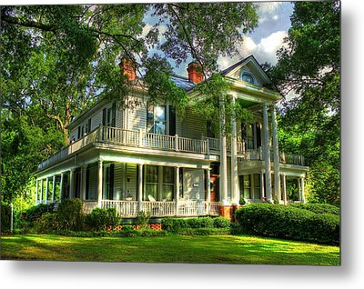 A Southern Bell The Carlton Home Art Southern Antebellum Art Metal Print by Reid Callaway