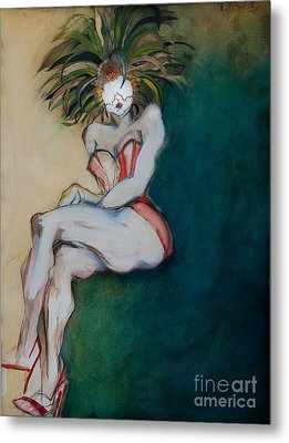 The Carnival Queen - Masked Woman Metal Print