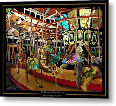 The Carousel At Coolidge Park - Chattanooga Landmark Series - #6 Metal Print by Steven Lebron Langston