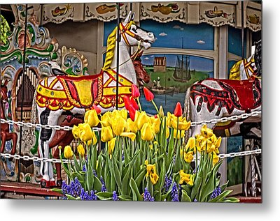 The Carousel Metal Print by Cheryl Cencich