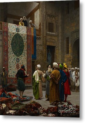 The Carpet Merchant Metal Print by Jean Leon Gerome