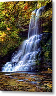 The Cascades Metal Print by Darren Fisher