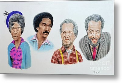 The Cast Of Sanford And Son  Metal Print