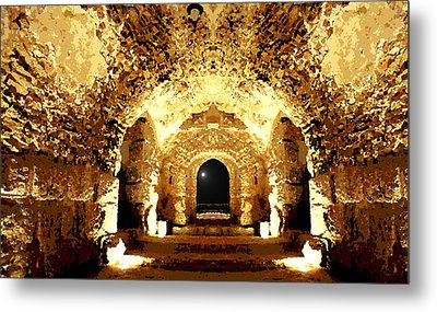 The Castle At Night Metal Print by Marwan Khoury
