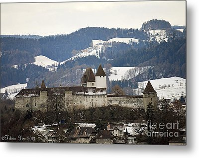 Metal Print featuring the photograph The Castle In Winter Look by Felicia Tica