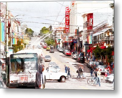 The Castro District In San Francisco 7d7573wcstyle Metal Print by Wingsdomain Art and Photography