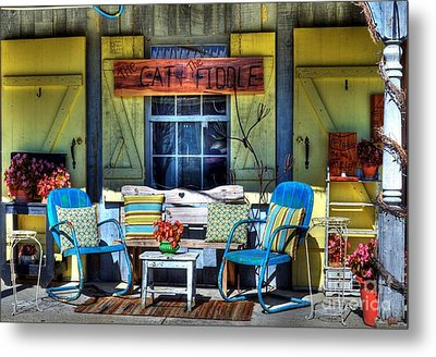The Cat And The Fiddle Metal Print by Mel Steinhauer