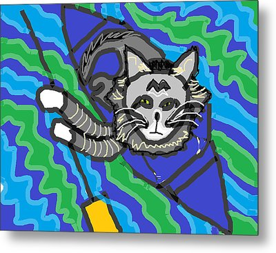 The Cat Rescuer Metal Print by Anita Dale Livaditis