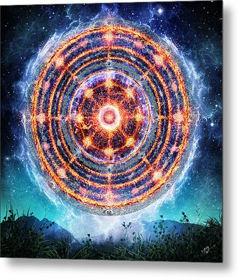 The Catalyst Fire Metal Print by Cameron Gray