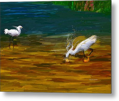 The Catch Metal Print by Angela A Stanton