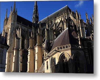 The Cathedral Basilica -  Amiens - France Metal Print by Aidan Moran