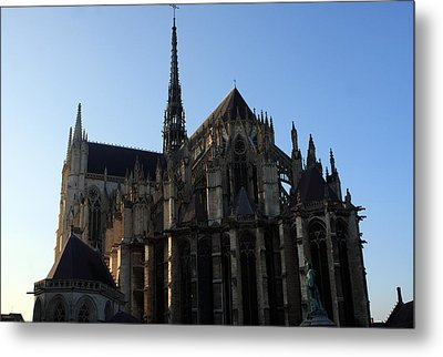 The Cathedral Basilica Of Our Lady Of Amiens Metal Print by Aidan Moran