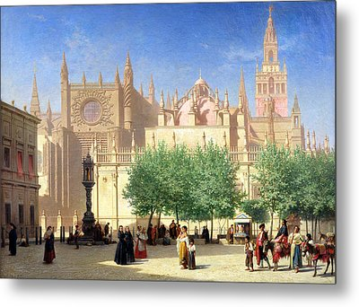 The Cathedral Of Seville Metal Print by Achille Zo