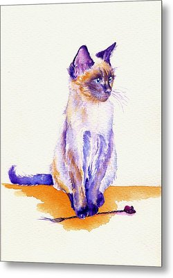 The Catmint Mouse Hunter Metal Print