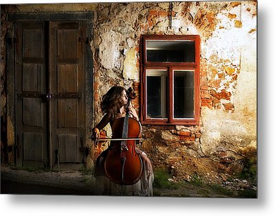 The Cellist Metal Print by Movie Poster Prints