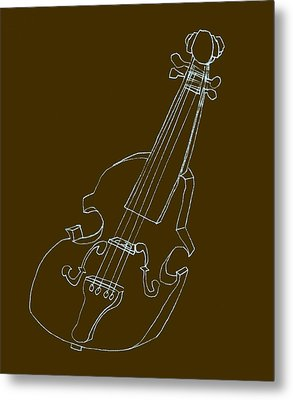 The Cello Metal Print by Michelle Calkins