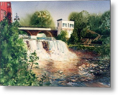 The Chagrin Falls In Summer Metal Print