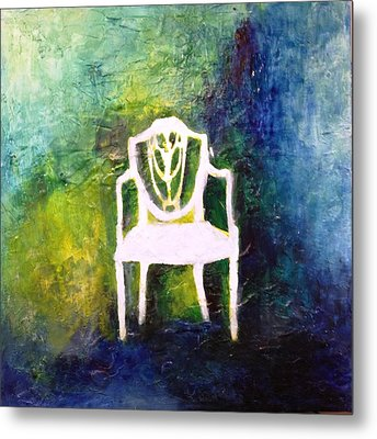 The Chair Metal Print by Andrea Friedell