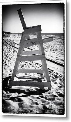 The Chair At Lbi Metal Print by John Rizzuto