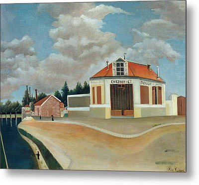 The Chair Factory At Alfortville Metal Print by Henri Rousseau