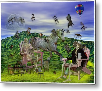The Chairs Of Oz Metal Print by Betsy Knapp