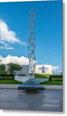 The Challenger Memorial - Bayfront Park - Miami Metal Print by Ian Monk