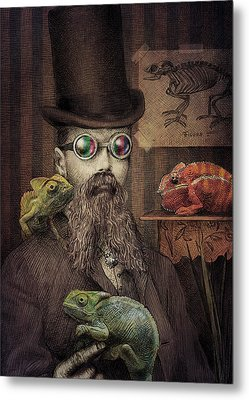 The Chameleon Collector Metal Print by Eric Fan