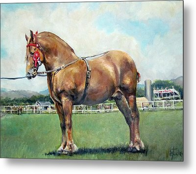 Metal Print featuring the painting The Champ by Donna Tucker