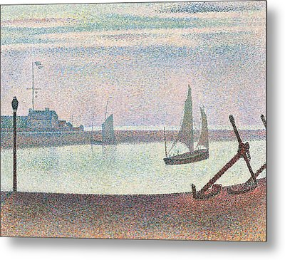 The Channel At Gravelines In The Evening Metal Print by Georges Seurat