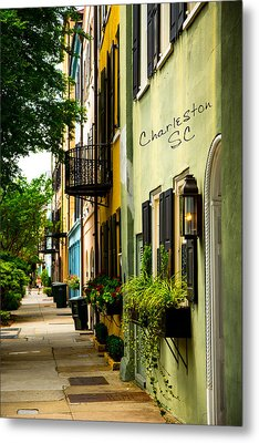 The Charm Of Charleston Metal Print