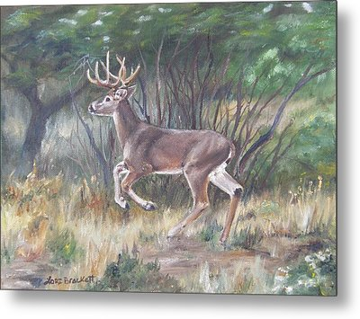 Metal Print featuring the painting The Chase Is On by Lori Brackett