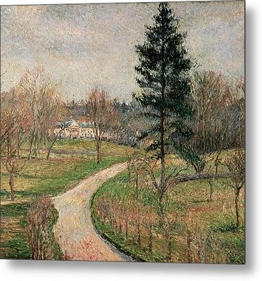 The Chateau At Busagny Metal Print by Camille Pissarro