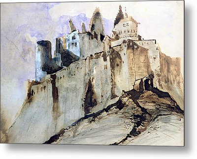The Chateau Of Vianden Metal Print by Victor Hugo