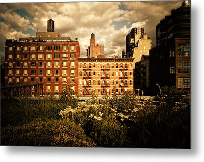 The Chelsea Skyline - High Line Park - New York City Metal Print by Vivienne Gucwa