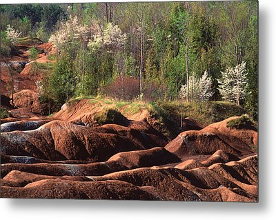 Metal Print featuring the photograph The Cheltenham Badlands by Gary Hall