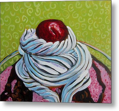 The Cherry On Top Metal Print by Tilly Strauss
