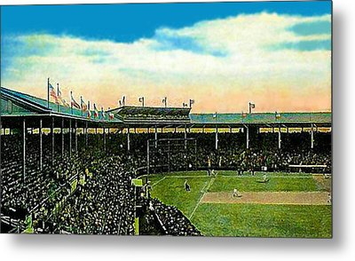 The Chicago Cubs Wrigley Field Around 1920 Metal Print by Dwight Goss