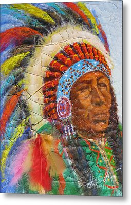 The Chief Metal Print by Mohamed Hirji