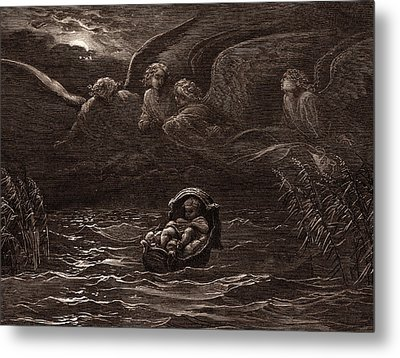 The Child Moses On The Nile Metal Print by Litz Collection