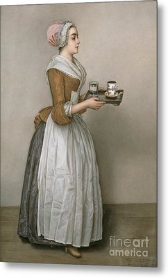 The Chocolate Girl Metal Print by Jean-Etienne Liotard