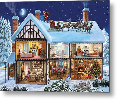 Christmas House Metal Print by Steve Crisp