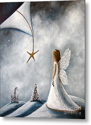 The Christmas Star Original Artwork Metal Print by Shawna Erback