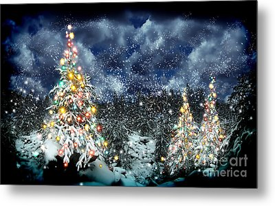 The Christmas Tree Metal Print by Boon Mee