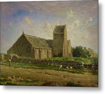 The Church At Greville Metal Print