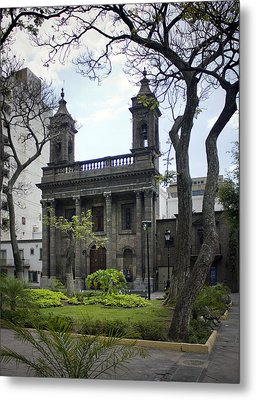The Church Green Metal Print by Lynn Palmer